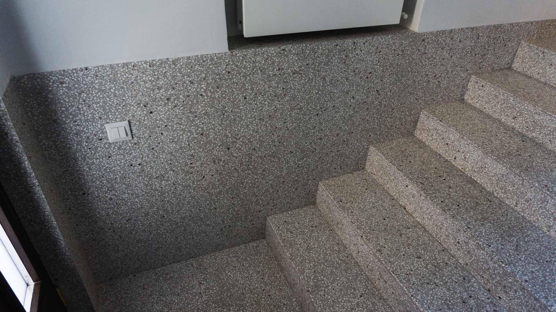 epoxy terrazzo stairs